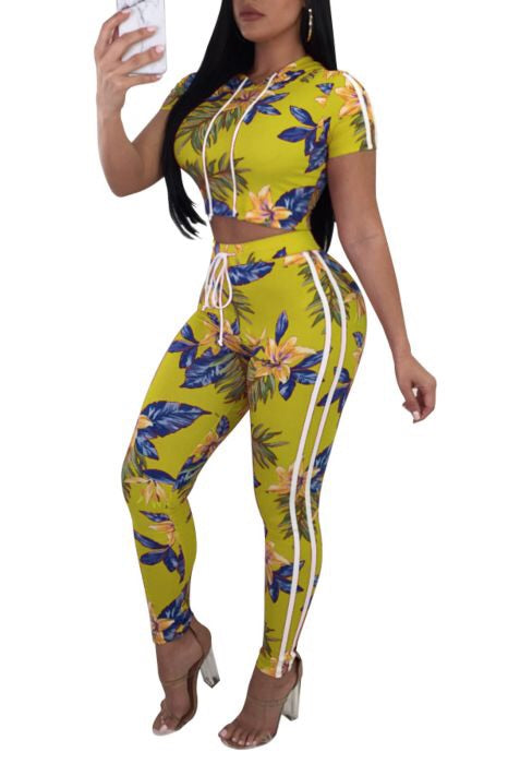 Hawaiian Paridise Two Piece Set - NaturaleeChicBoutique