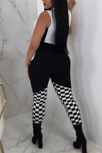 Checkered Two Piece Set - NaturaleeChicBoutique