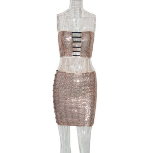 Sequined Up Two Piece Set