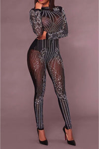 Top Notch Rhinestone Jumpsuit