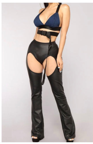 Jump On It Saddle Faux Leather Pants - NaturaleeChicBoutique