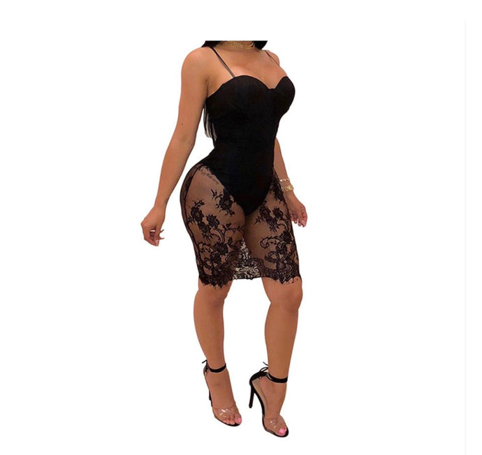 Show Stopper Mesh Bodycon Dress - NaturaleeChicBoutique