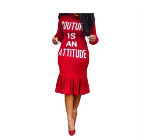 Couture Is An Attitude Bodycon Dress