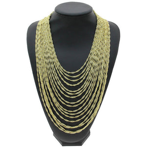 Ade Multi Chain Statement Necklace - NaturaleeChicBoutique