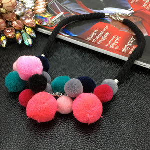 Pom Pom Dream Choker Necklace - NaturaleeChicBoutique