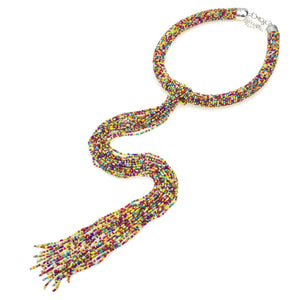 Amina Bohemian Beaded Necklace - NaturaleeChicBoutique