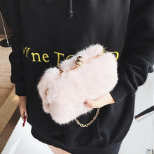 Furry Chainlink Shoulder Bag - NaturaleeChicBoutique