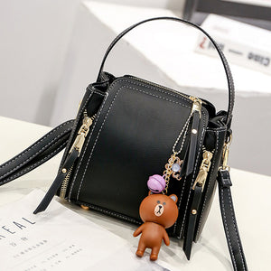 Leather Teddy Shoulder Tote