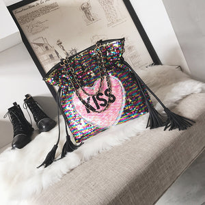 Kiss Me Tote Bag - NaturaleeChicBoutique