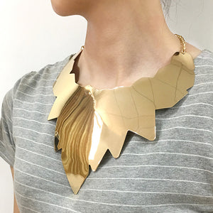 Leaf Bib Choker Necklace