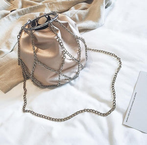 Chain Ring Shoulder Bag - NaturaleeChicBoutique