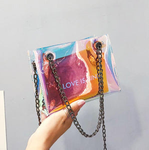 Love Is Blind Transparent Jelly Bag - NaturaleeChicBoutique