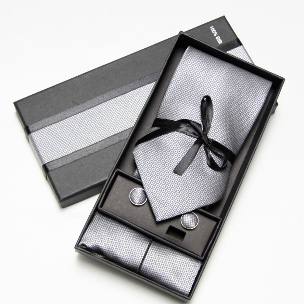 Tie Sets - Tie/Cufflink/Pocket Square - 10 Colors