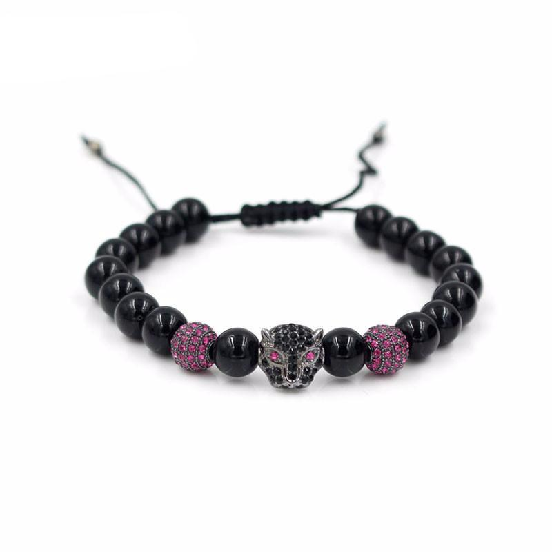Adjustable Gemstone Leopard Bracelet - 7 Styles