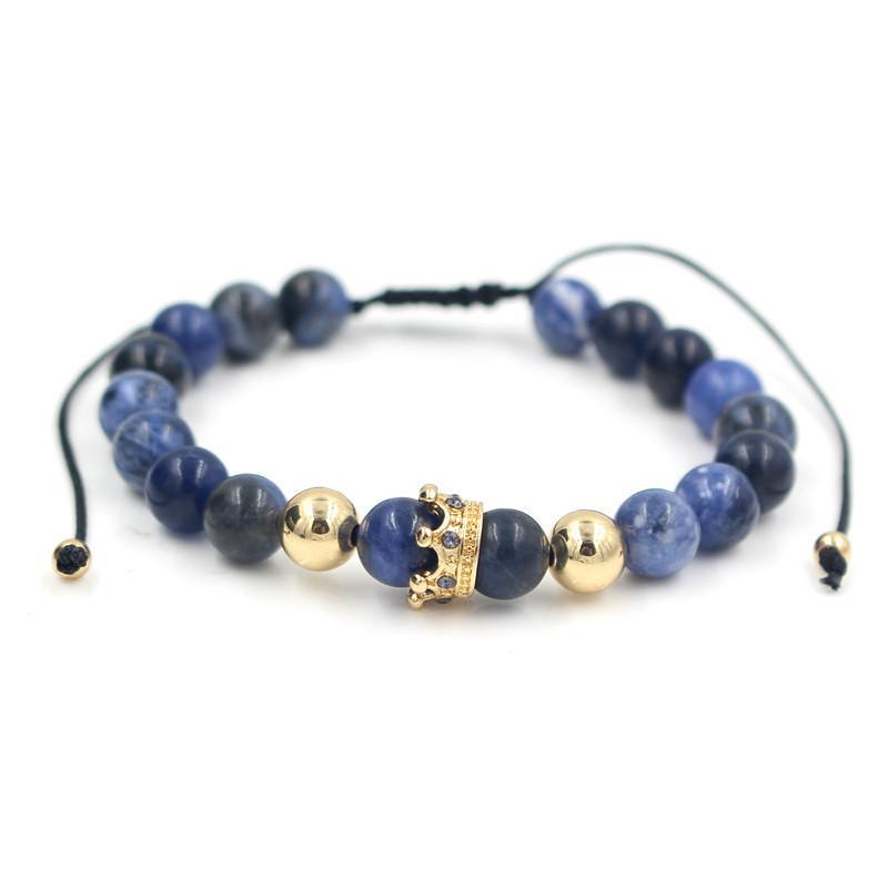 Adjustable Gemstone Crown Bracelet - 8 Styles