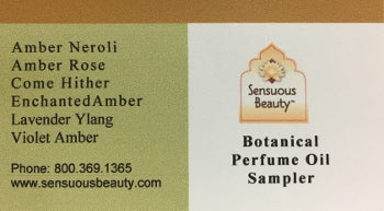 Botanical Perfume Oil - Sampler