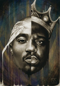 Poster de Tupac Shakur vs The Notorius Big