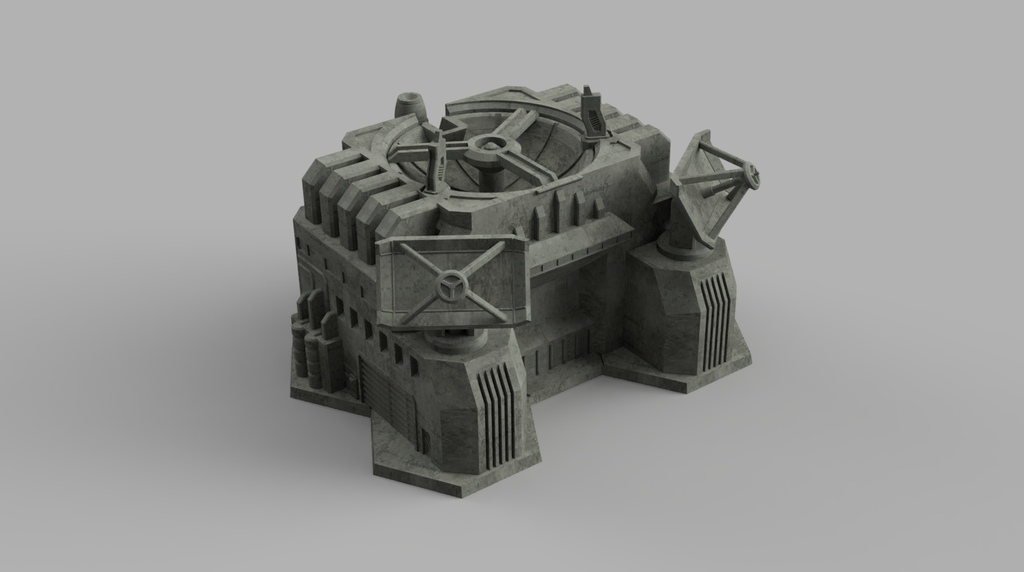 HEXTECH - Large Comm Station (STL Download)