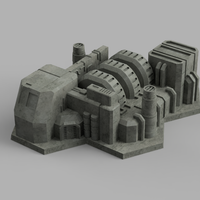 HEXTECH - River Comm-Center Building Bundle (STL Download)