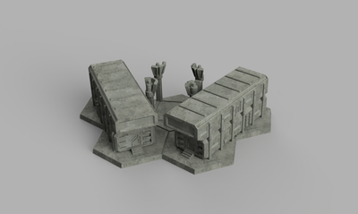 HEXTECH - Small Barracks (STL Download)