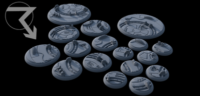 Sci-Fi Authoritarian Lipped Bases (Round) - STL Download)