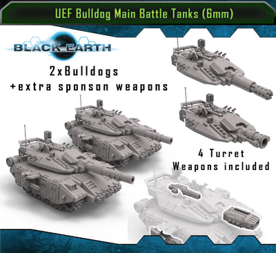 U.E.F Bulldog Main Battle Tanks (2 Pack)