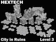 HEXTECH - City in Ruins Level 3 Bundle (STL Download)
