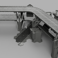 HEXTECH - Highway Overpass Bundle (STL Download)