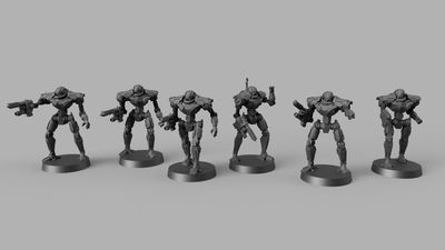 Dark Soldier Bots (28/32mm - STL Download)