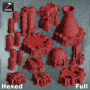 Hex City - Industrial Bundles  (STL Download)