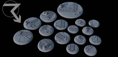 Sci-Fi Industrial Lipped Bases (Round) - STL Download)