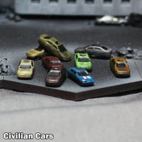 6mm (1/285 Scale) Civilian Cars - Pack of 10