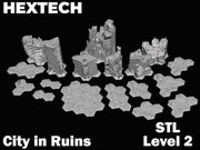 HEXTECH - City in Ruins Level 2 Bundle (STL Download)