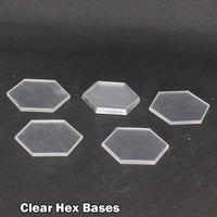Clear Hex Bases (4 Pack)