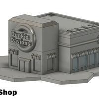 Dunkin Davions Donut Shop (STL Download)