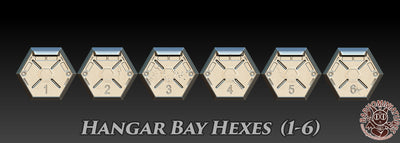 Textured Hex Bases - 12 Pack (Hanger Bays)