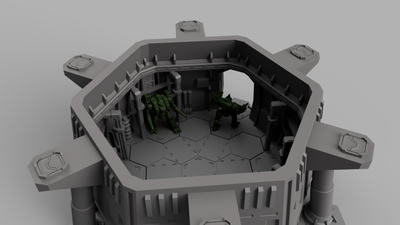 HEXTECH - Sigma Dome Mech Hangar (STL Download)