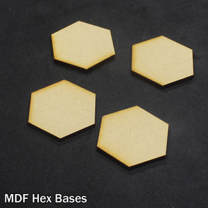 MDF Hex Bases (4 Pack)