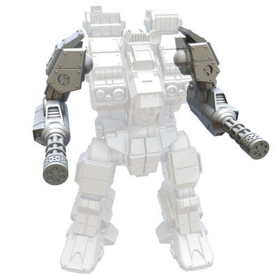 Weapon Packs for Strato Mini Studios Mechs