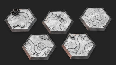 Textured Hex Bases - 5 Pack (Parched Ravine)