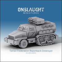 Terran Federation Razorback Destroyers (3 Pack)