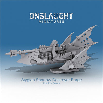 Stygian Shadow Destroyer Barges (3 Pack)