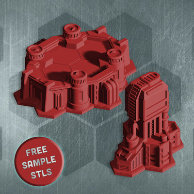 Death Ray Designs FREE STL Sample Download (STL Download)