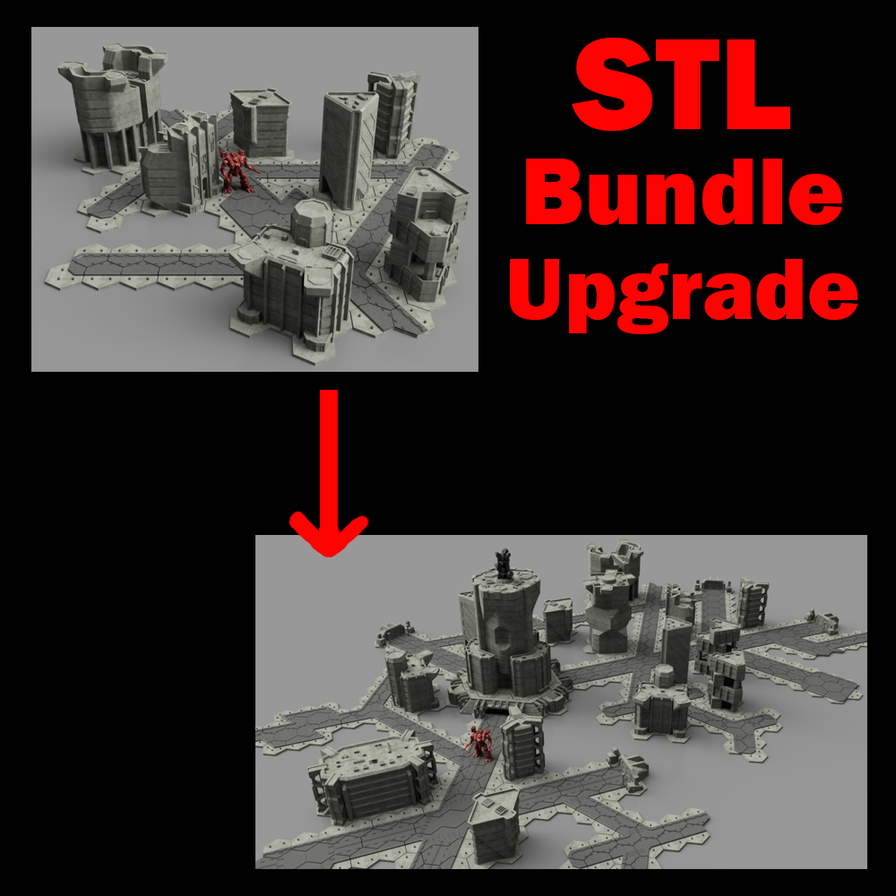 Digital STL UPGRADE Bundle (Read Description)