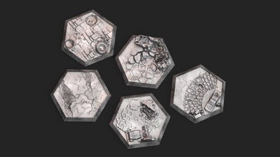 Textured Hex Bases - 5 Pack (Urban Warzone)