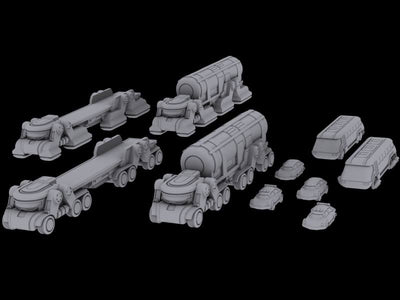 Civilian Vehicles - Wave 1 - Bundle (STL Download)