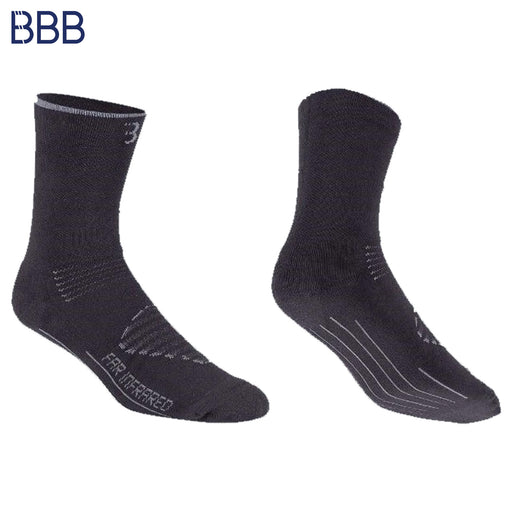 BBB Firfeet Winter Socks LG / 44-47 Black/Grey | ABC Bikes