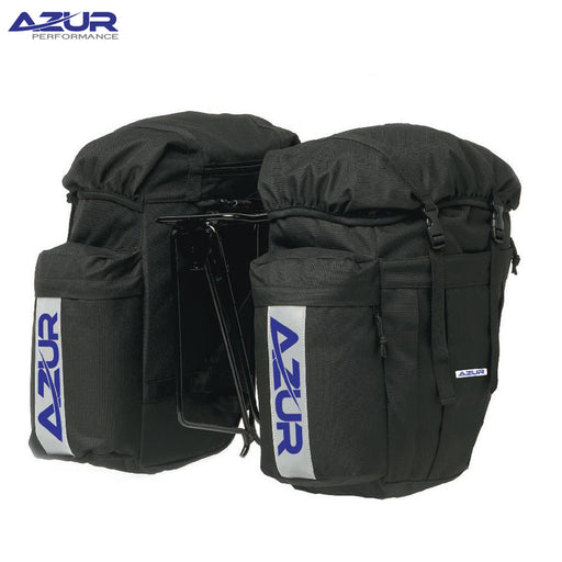 Azur Commuter Rear Panniers Black | ABC Bikes