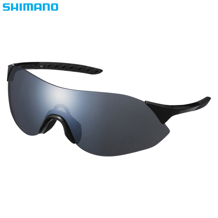 Shimano Aerolite S Glasses Metallic Black / Smoke | ABC Bikes