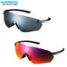 Shimano S-Phyre R Polarized Glasses Black / Red MLC | ABC Bikes
